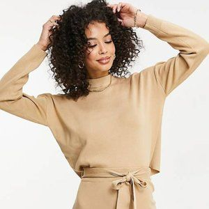 NEW Missguided Cropped Sweater with Funnel Neck